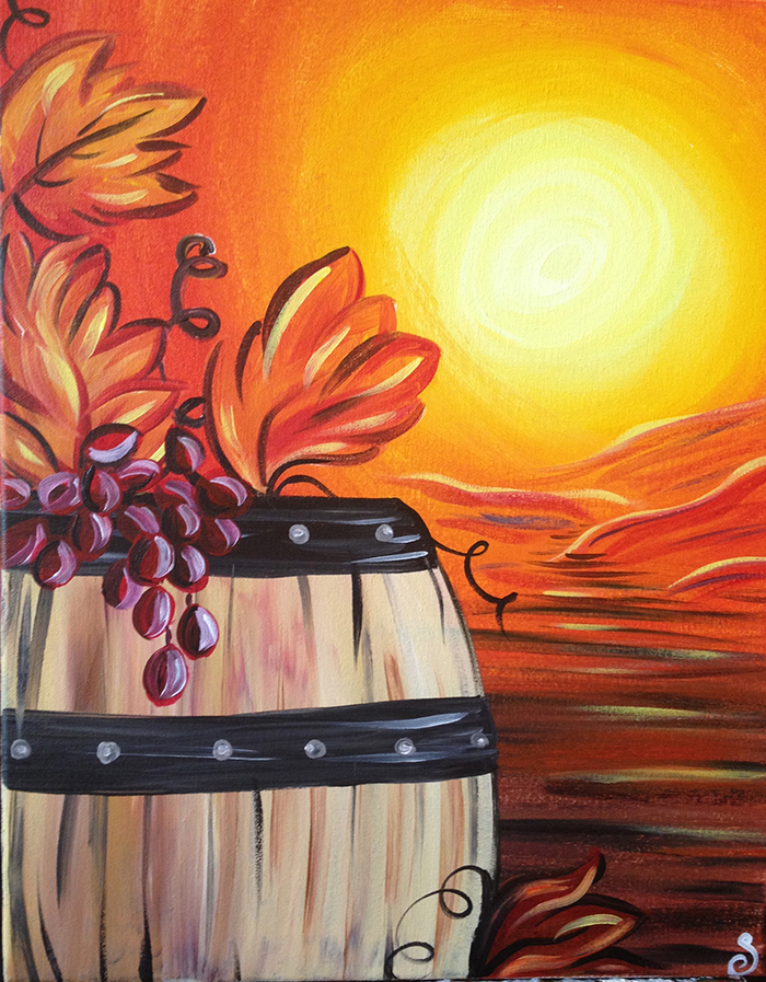 The painted cabernet a paint sip studio santa barbara for Painting and wine